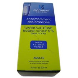 Carbocistéine Biogaran conseil 5% sans sucre