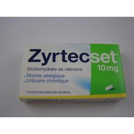 zyrtecset 10 mg 7 comprimés