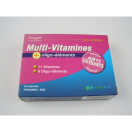 Multi Vitamines Nut'exel 30 comprimés