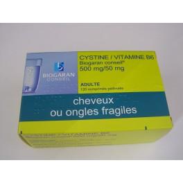 Cystine/vitamine B6 500 mg /50 mg comprimés